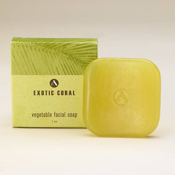 exotic coral facial soap