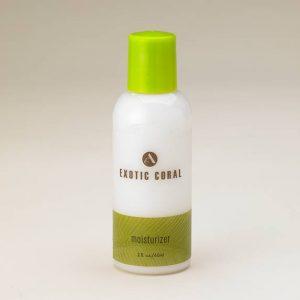 exotic coral moisturizer bottle