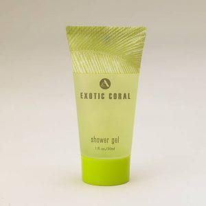 exotic coral shower gel tube