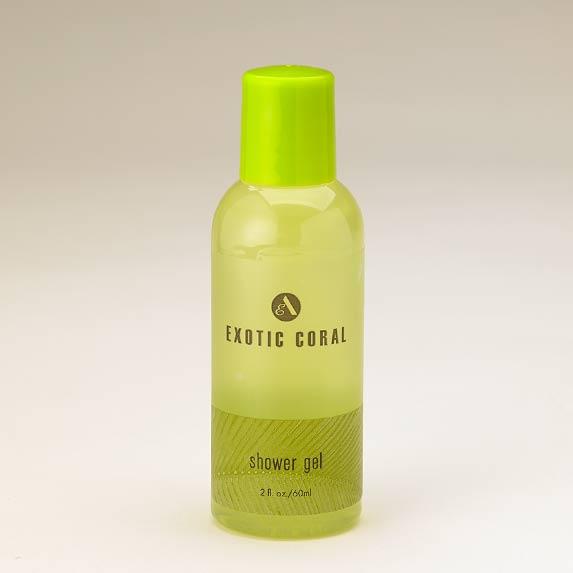 exotic coral shower gel